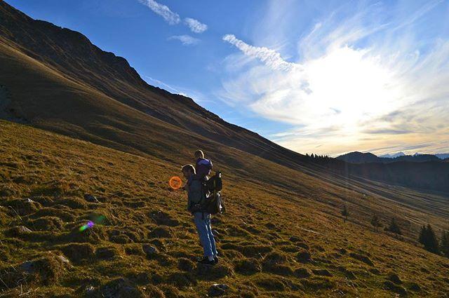 A walk up the hillside